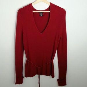 BCBGMaxAzria Sweaters - BCBGMaxazria Soft Knit V-Neck Sweater